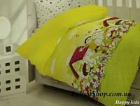 """Детский комплект постельного белья в кроватку ALTINBASAK """"Happy Kids"""" жёлтый"""