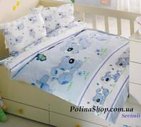 """Детский комплект постельного белья в кроватку ALTINBASAK """"Sevimli"""" голубой"""
