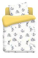 Постельное белье для малышей в кроватку поплин Зайчата