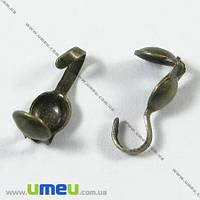 Каллоты с колечком, 9,0 мм, Античная бронза, 20 шт. (ZAG-001857)