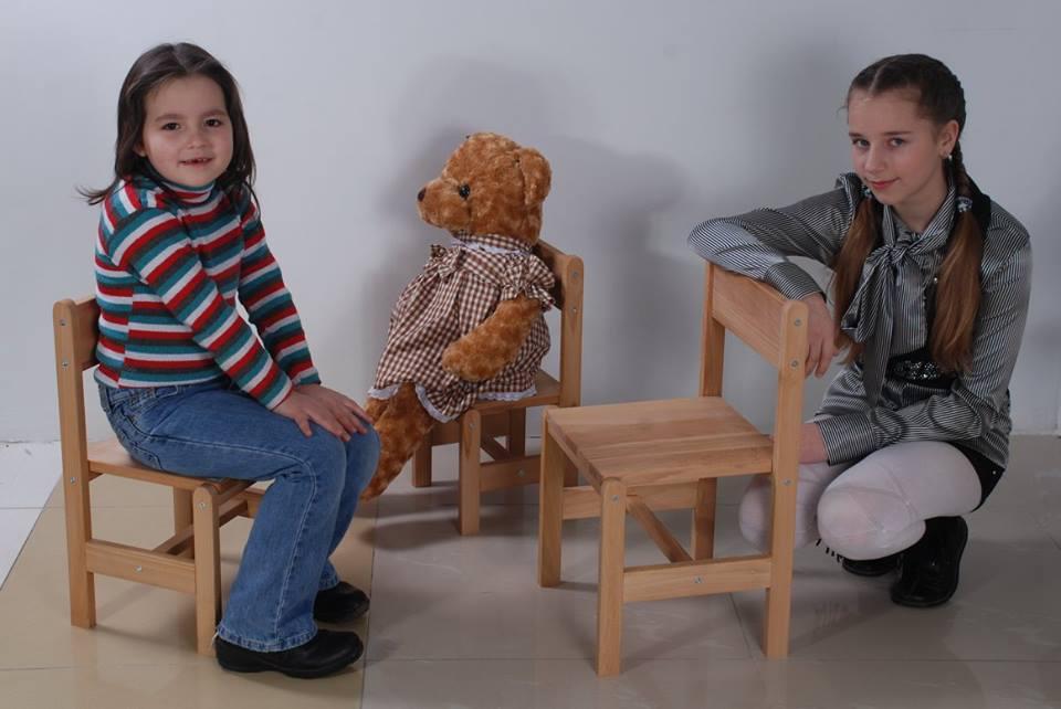 Стульчик детский, высота до сидения 28 см. РК11