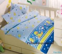 """Детский комплект постельного белья в кроватку ALTINBASAK """"Vac-Vac"""" голубой"""