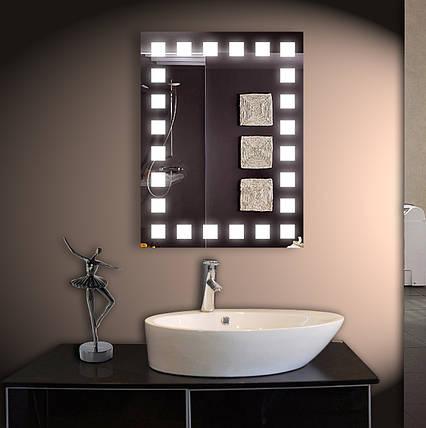 Зеркало LED со светодиодной подсветкой ver-309 600х800 мм, фото 2