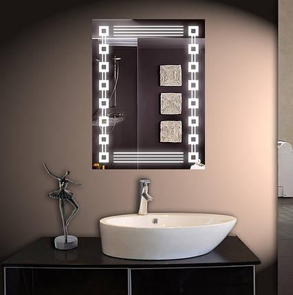 Зеркало LED со светодиодной подсветкой ver-3010 600х800 мм, фото 2