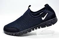 Кроссовки мужские в стиле Nike Free Run 3.0 Slip On, Dark Blue