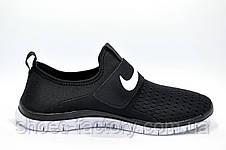 Мужские кроссовки на липучке в стиле Nike Free Run 3.0 SOCFLY, White\Black, фото 3