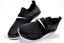 Мужские кроссовки на липучке в стиле Nike Free Run 3.0 SOCFLY, White\Black, фото 2