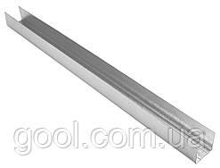 Профиль оцинкованный UD 27/60 KNAUF для гипсокартона длина 4 м.п. толщина металла 0,6 мм