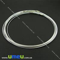 Основа для колье Чокер, Белая, 44 см, 1 шт (OSN-000651)