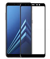 Защитное стекло Full screen Samsung A730 (A8 Plus -2018) (Black), фото 1