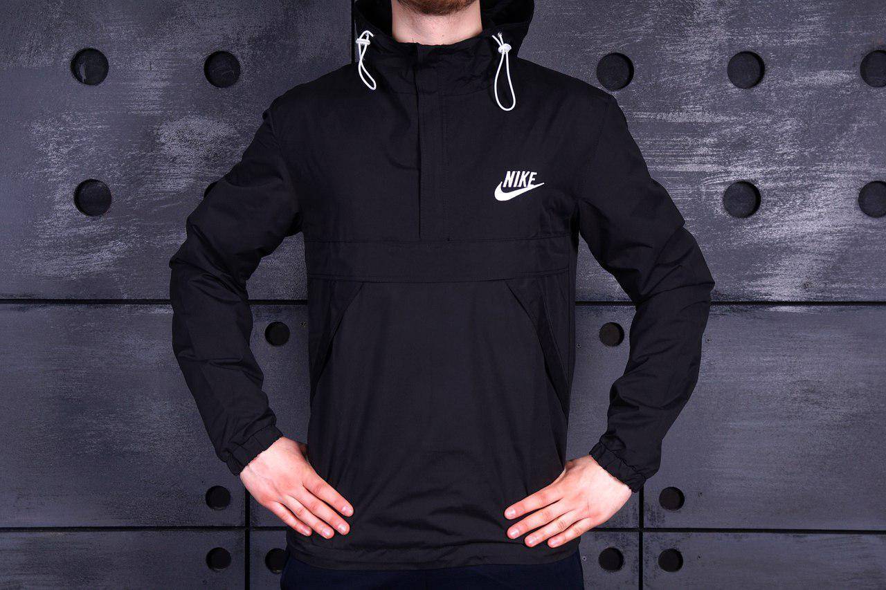 Мужская ветровка анорак найк (Nike), черная