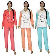 Пижама женская теплая трикотажная 03218-3 Кошка Милка на байке, р.р.40-58