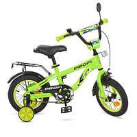 Велосипед детский PROF1 12д. T12153 Space,салатовый