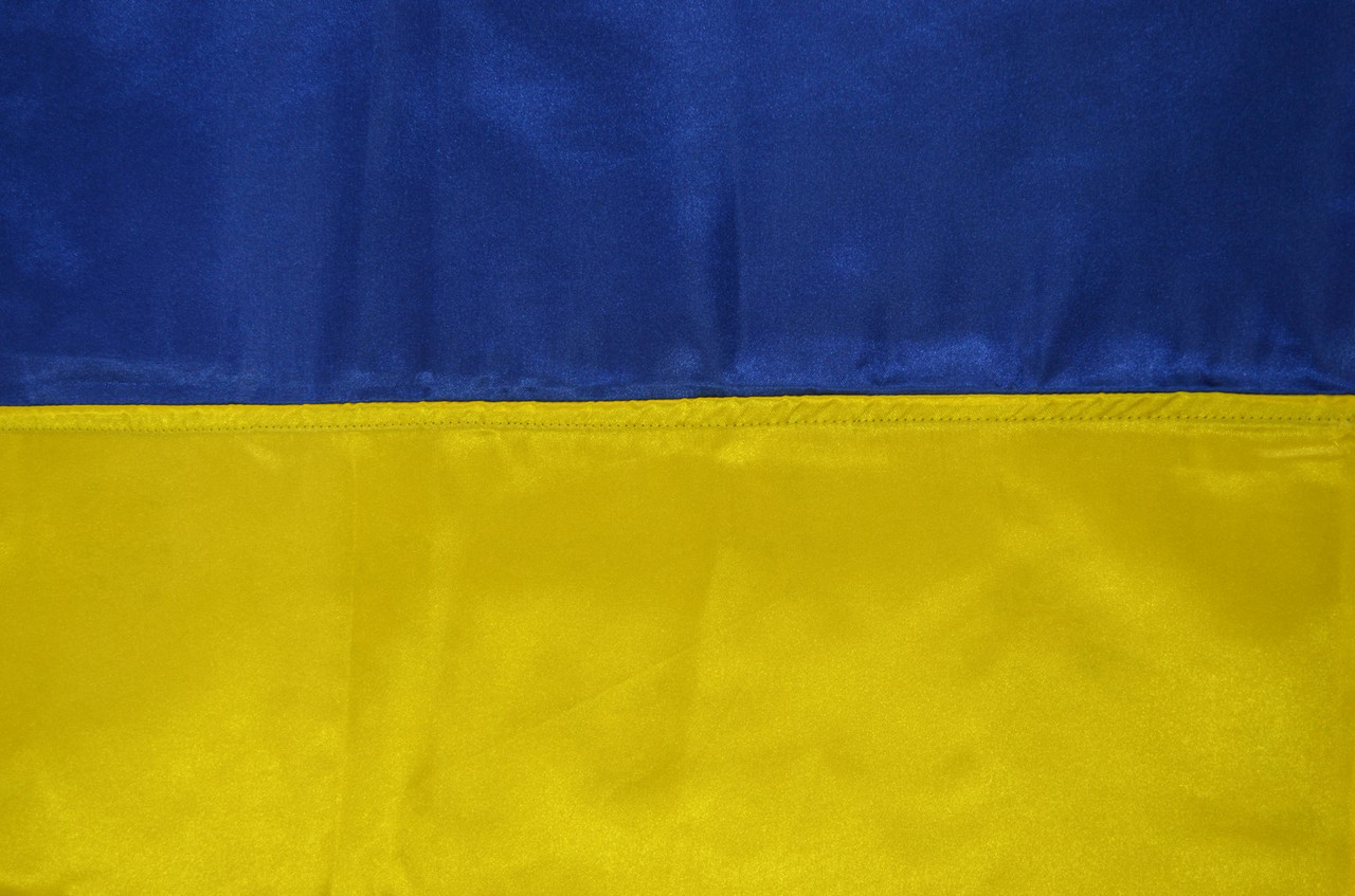 Флаг Украины атласный 90*135см