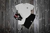 Комплект футболка + шорты Adidas, белый - черный