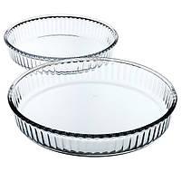 Набор форм для выпечки 2 пр. (Ø 32 см; Ø 26 см) жаропрочное стекло Borcam 159022