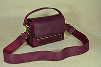 Кожаная сумка Азалия | Винтажный Бордо, фото 1