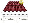 Металлочерепица Сталекс Украина Maxima Италия/Польша/Бельгия, матполиестер толщина 0,5 мм, фото 5
