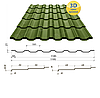 Металлочерепица Сталекс Украина Maxima Финляндия/Швеция, матполиестер толщина 0,5 мм, фото 4