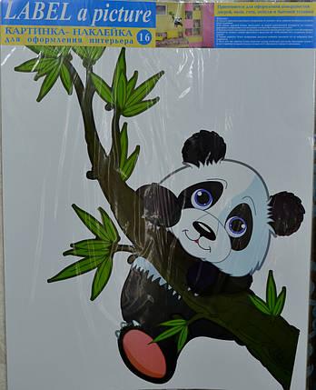 Наклейка, панда, интерьерная Label  №16, фото 2