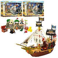Пиратский корабль - подарочный игровой набор  - серия пираты, корабль, аксессуары, 3 вида, 37892 ABC