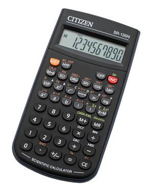 Калькулятор Citizen SR-135N научный 128 формул, фото 2