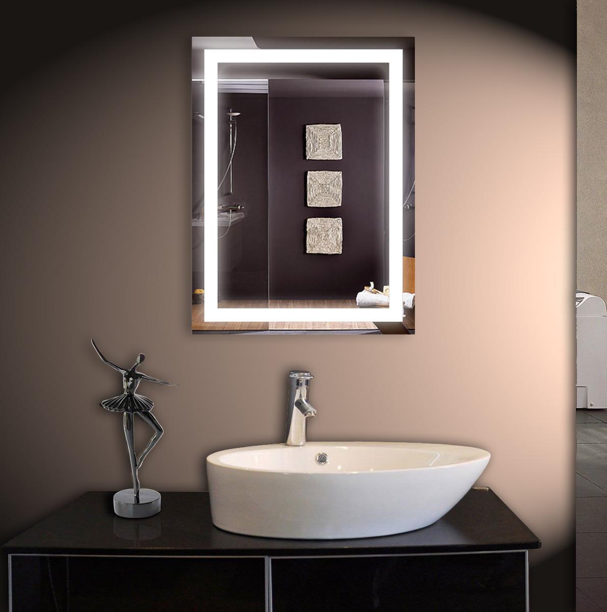 Зеркало LED со светодиодной подсветкой ver-301 500х800 мм