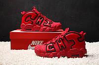 Кроссовки Nike Air More Uptempo X Chicago Red. Топ качество! Живое фото (Реплика ААА+)
