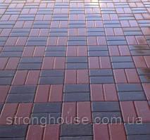 Тротуарная плитка КИРПИЧ СТАНДАРТНЫЙ 6см 200х100 Красный, коричневый