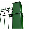 """Столб  """"СТАНДАРТ КОЛОР"""" 60х40 мм 1,5м. оц.+ ПВХ (Зелёный)"""