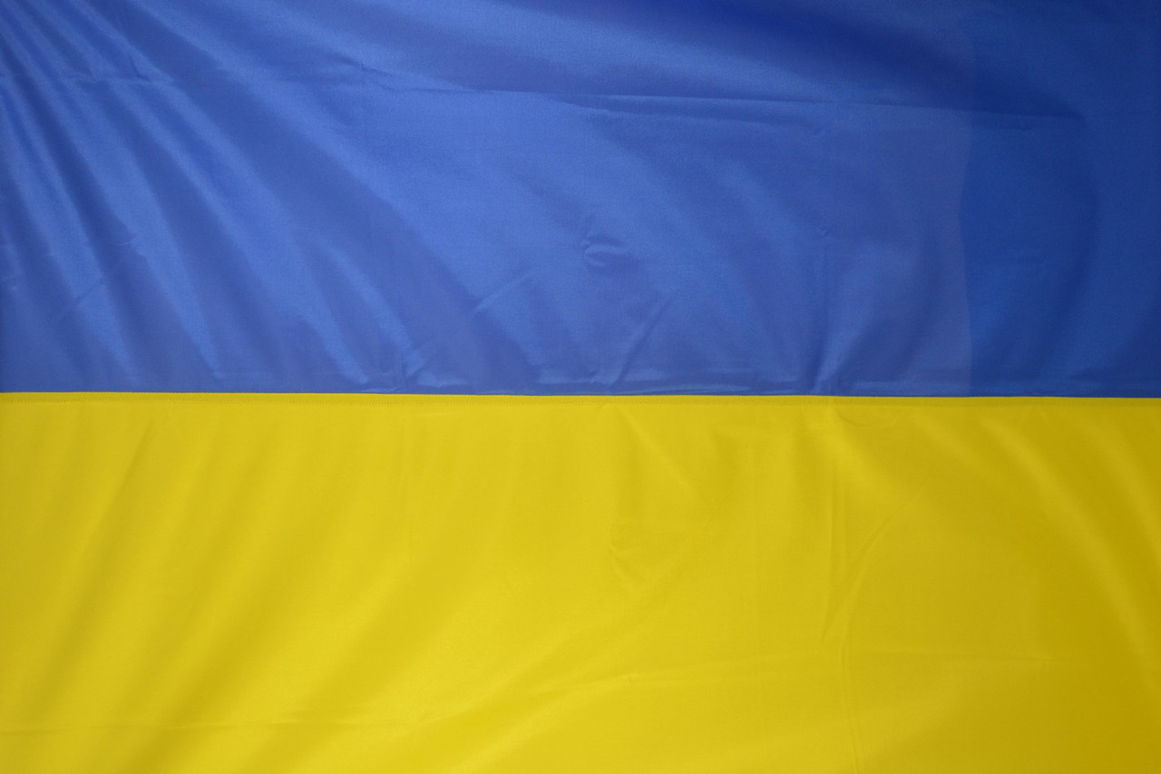 Флаг Украины  сшитый 90*135см из флажной сетки