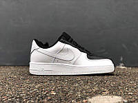 "Женские кроссовки Nike Air Force 1 ""White/Black"". Живое фото (Реплика ААА+)"