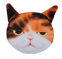 Кошелек детский, мягкий 3D кошка суровая