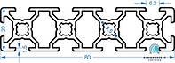 Станочный профиль   Конструкционный, без покрытия, 20х80
