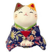 Манеки-неко «В синем кимоно» большой, фото 1