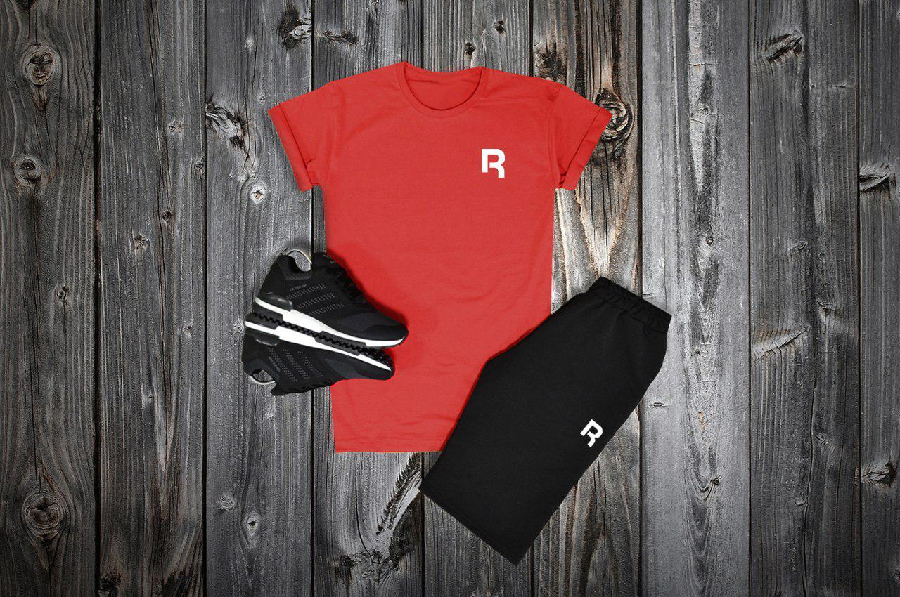 d22b30257c8c Комплект футболка + шорты Reebok, красный - черный - купить в ...