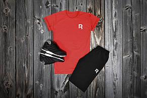 Комплект футболка + шорты Reebok, красный - черный