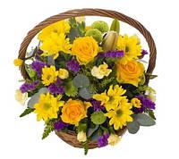 Цветочная корзина Виктория | доставка цветов в корзинах