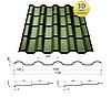 Металлочерепица Сталекс Украина Alpina Россия, полиестер толщина 0,5 мм, фото 6