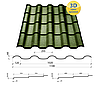 Металлочерепица Сталекс Украина Alpina Grandemat, толщина 0,55 мм, фото 6