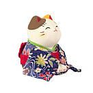 Манеки-неко «В синем кимоно» большой, фото 3