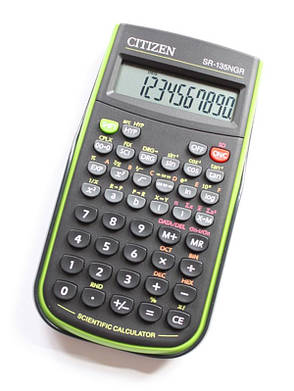 Калькулятор Citizen SR-135NGR научный 128 формул, фото 2