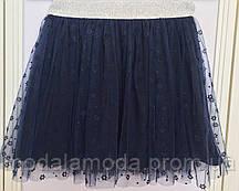 Фатиновая юбка с цветочками на резинке для девочки