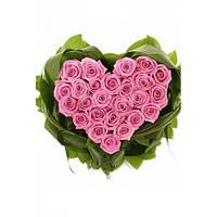 Сердце из роз Магия   доставка цветов Украина