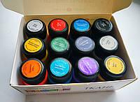Краски Декола Decola для ткани набор 12 штук,акриловые краски по ткани, фото 1