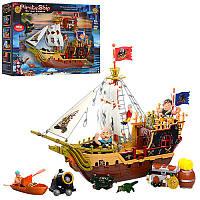 Пиратский корабль - подарочный игровой набор  - серия пираты, корабль, аксессуары, 2 вида, 37001 - 39001