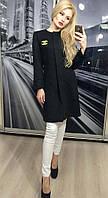 Пальто женское демисезонное кашемировое ft-235 черное