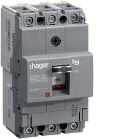 Автоматический выключатель 50А, 3п, 18kA, Тфикс./Мфикс, Hager HDA050L