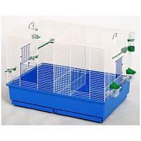 Клетка для птиц Дуэт 700×500×530 цинк, Лори, Средние, Украина, Клетка, Прямоугольная