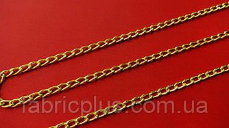 Цепь декоративная граненная 5*3 мм золото